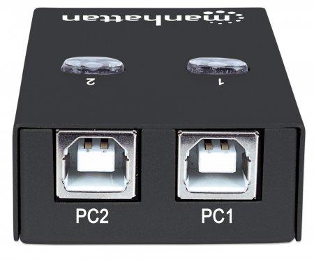 2-Port USB 2.0-Umschalter MANHATTAN 1 x USB-A-Port auf 2 162005 (BILD3)