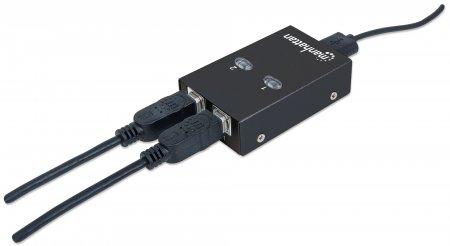2-Port USB 2.0-Umschalter MANHATTAN 1 x USB-A-Port auf 2 162005 (BILD6)