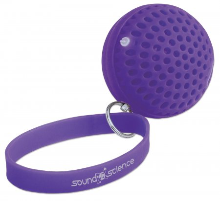 Sound Science Atom Glowing Wireless Speaker - Glowing Wireless Speaker, Mini-Speaker with Wireless Bluetooth Technology and Rhythmic LED Lighting Effects, Purple