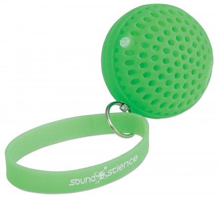 Sound Science Atom - leuchtender Bluetooth-Lautsprecher Bluetooth Mini-Lautsprecher mit rhythmischen LED-Lichteffekten, grün MANHATTAN