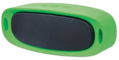 Sound Science Orbit Durable Wireless Speaker - Durable Wireless Speaker + MP3 Player, Speaker System with Wireless Bluetooth Technology, Rubberized Outer Housing and MP3 Player, Green