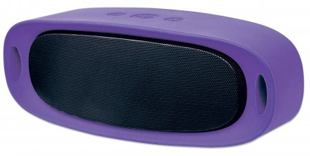 Sound Science Orbit Durable Wireless Speaker - Durable Wireless Speaker + MP3 Player, Speaker System with Wireless Bluetooth Technology, Rubberized Outer Housing and MP3 Player, Purple