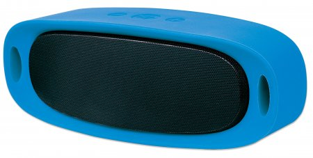 Sound Science Orbit Durable Wireless Speaker - Durable Wireless Speaker + MP3 Player, Speaker System with Wireless Bluetooth Technology, Rubberized Outer Housing and MP3 Player, Blue