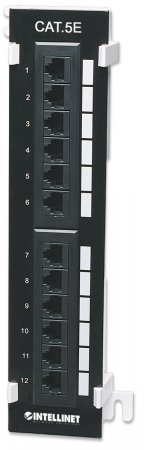 Cat5e Wall-mount Patch Panel - , 12-Port, UTP