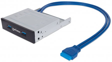 SuperSpeed USB 3.0 Bay Mount Expansion Panel - , 2 Ports, 20-pin header connection