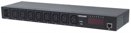 "19"" Intelligent 8-Port PDU - , 19"" Rackmountable Intelligent Power Distribution Unit; Monitors Power, Temperature and Humidity"