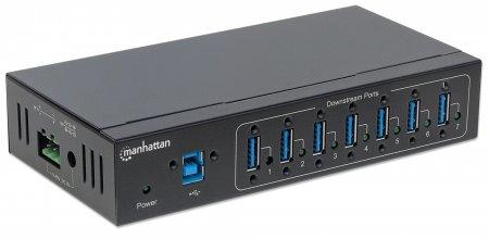 7-Port USB 3.0 Hub für Industrieanwendungen MANHATTAN 20 164405 (BILD2)