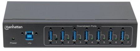 7-Port USB 3.0 Hub für Industrieanwendungen MANHATTAN 20 164405 (BILD3)