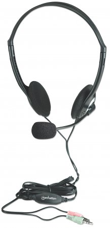 Stereo Headset - , Lightweight design with microphone and in-line volume control