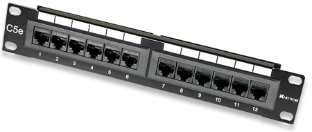 "12-Port Patch Panel, 10"", 1U, CAT5e UTP - , 1U, 12 Port, CAT5e UTP"