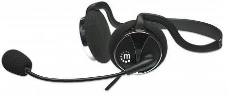 Stereo Headset mit Nackenbügel Nackenbügel bringt die Frisur nicht durcheinander MANHATTAN