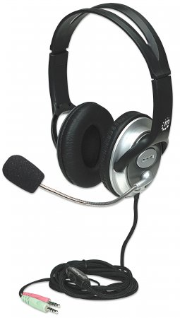 Classic Stereo Headset MANHATTAN Flexibles Mikrofon und hohe Audioqualität