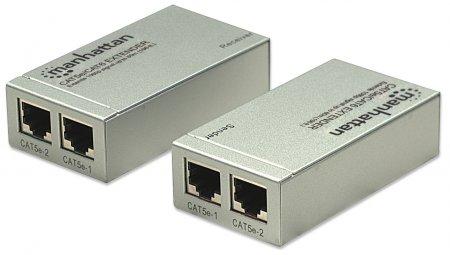 HDMI Cat5e/Cat6 Extender MANHATTAN Verlängert das 1080p-Signal auf bis zu 60 m