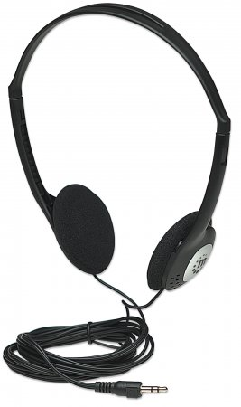 Stereo Headphones - , Lightweight and adjustable with cushioned earpads