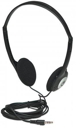 Stereo Kopfhörer Sehr leicht, verstellbarer Kopfbügel, gepolsterte Ohrmuscheln MANHATTAN