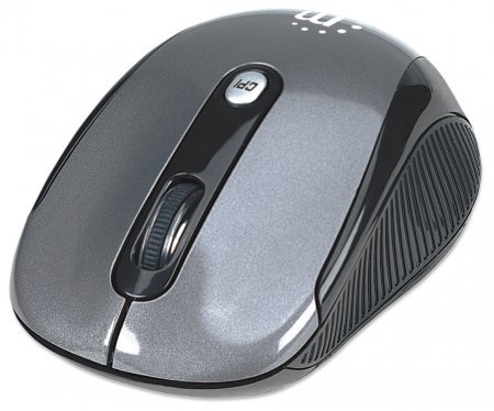 Performance Wireless Optical Mouse - , USB, Four Buttons with Scroll Wheel, 2000 dpi