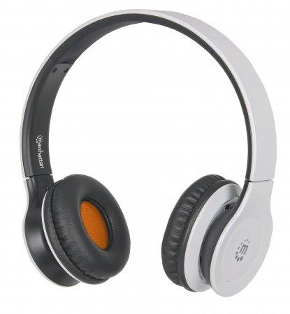 Fusion Bluetooth-Kopfhörer Ohraufliegendes Design (On-Ear), Bluetooth 3.0-Technologie und aufladbarer Lithium-Polymer-Akku MANHATTAN