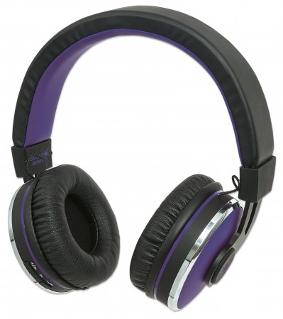 Sound Science Cosmos Comfort-Fit Wireless Headphones - Comfort-Fit Wireless Headphones, Lightweight Headphones with Wireless Bluetooth Technology, Black-Purple