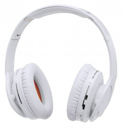 Fathom Wireless Headphones - With Bluetooth Technology, Over-ear Wireless Headphones with Bluetooth 4.0 Technology and Rechargeable Internal Lithium Polymer Battery, White