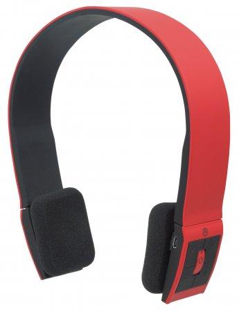 Freestyle Bluetooth-Kopfhörer Ohraufliegendes Design (On-Ear), integriertes Mikrofon, Bluetooth 2.1-Technologie, rot MANHATTAN
