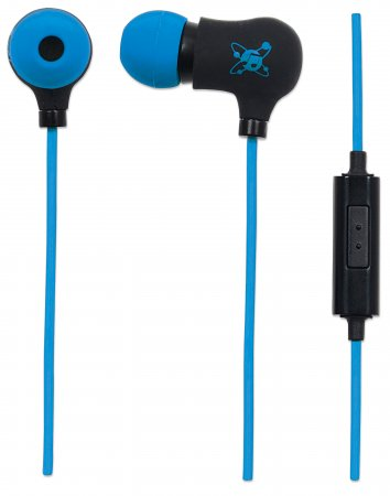 Sound Science Nova Sweatproof Earphones - Sweatproof Earphones, Lightweight Sweatproof Earphones with In-Line Mic, Black-Blue