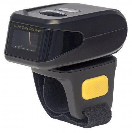 1D Mini Ring Laser Barcode Scanner - Features Keyboard Wedge Decoder with Scans up to 270 Scans per Second, Laser, 500 mm Scan Depth, Wireless BT