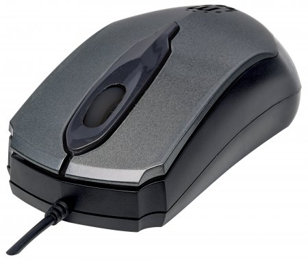 Edge Optical USB Mouse - , USB, Wired, Three Buttons with Scroll Wheel, 1000 dpi, Gray