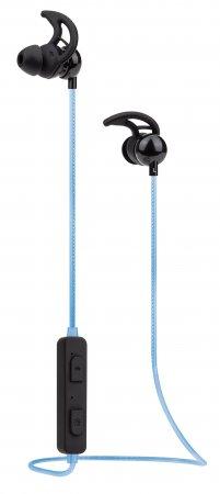 Sound Science In-Ear Bluetooth-Sportheadset mit Leuchteffekt MANHATTAN Wasserfest, in-Ear-Design, omnidirektionales Mikrofon, integrierte Bedienelemente, integriertes, buntes LED-Licht