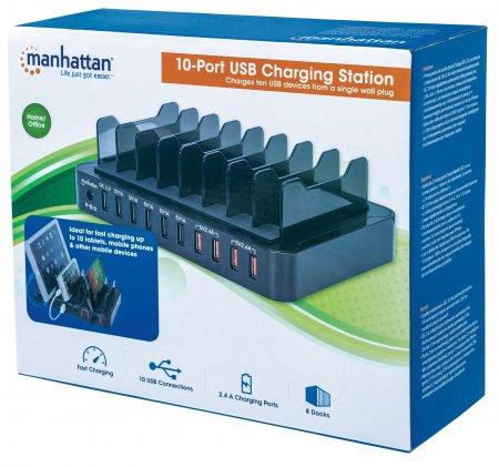 10-Port USB Charging Station