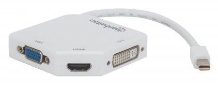 3-in-1 4K Mini-DisplayPort-Adapter MANHATTAN auf weiß 207362 (BILD3)