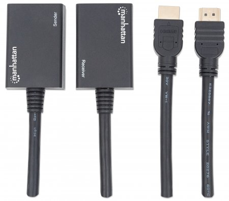 1080p HDMI over Ethernet Extender with Integrated Cables