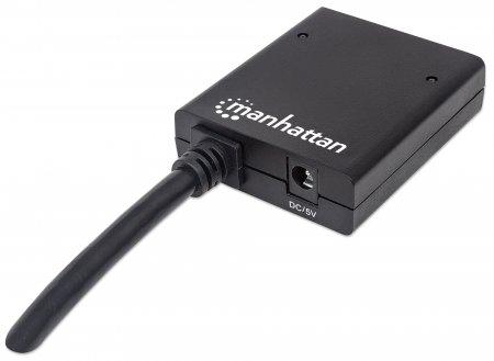 1080p 2-Port HDMI-Splitter MANHATTAN 2 Ports, integriertes Kabel, Stromversorgung über Netzteil, 1080p