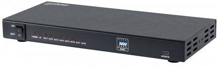 8-Port HDMI Splitter - Easily connect one source with eight UHD video displays, 8-port, 4K@30Hz, EDID, AC power