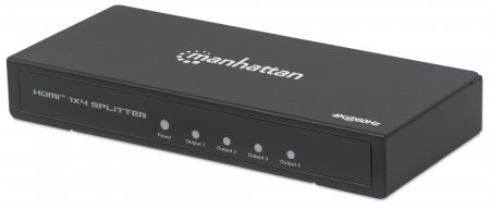 4K 4-Port HDMI Splitter - Easily Connect one Source with Four UHD Video Displays, 4K@60Hz, AC Powered, Black