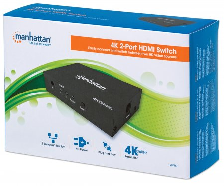 4K 2-Port HDMI Switch