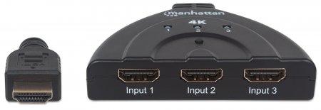 4K 3-Port HDMI Switch