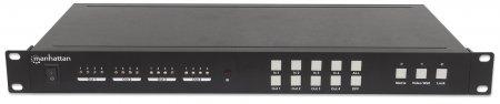 1080p HDMI Matrix-Switch mit Videowandfunktion 2 x 2 MANHATTAN HDMI Matrix-Switch/Verteiler, vier Eingänge und vier Ausgänge, manuelle oder GUI-Bedienoberfläche, Videobrandbreiten-Verstärker, RS232- u