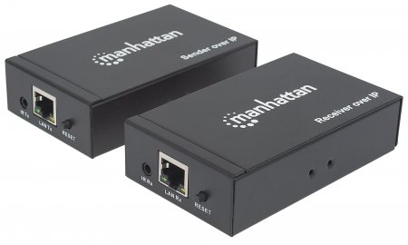 1080p HDMI over IP Extender Kit - , Extends 1080p Signal up to 120 m (396 ft.) with a Network Switch and Single Ethernet Cable, IR Support, Black