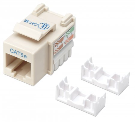 Cat5e Keystone Jack - , UTP, Ivory, Punch-down