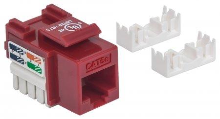 Cat5e Modularbuchse INTELLINET UTP, Keystone Jack, rot, benötigt LSA-Auflegewerkzeug