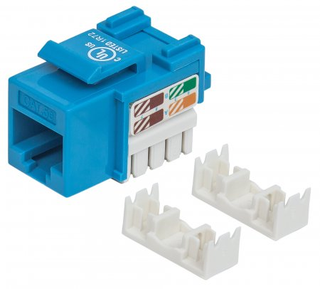 Cat5e Keystone Jack - , UTP, Blue, Punch-down