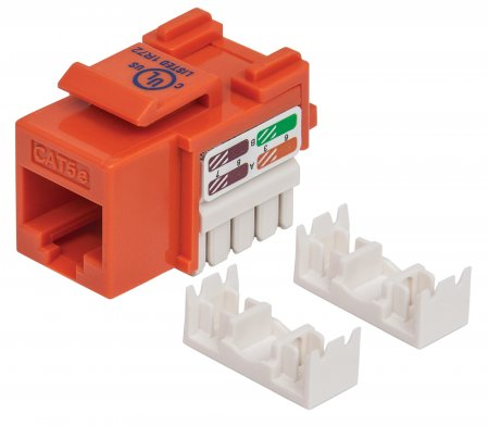 Cat5e Keystone Jack - , UTP, Orange, Punch-down