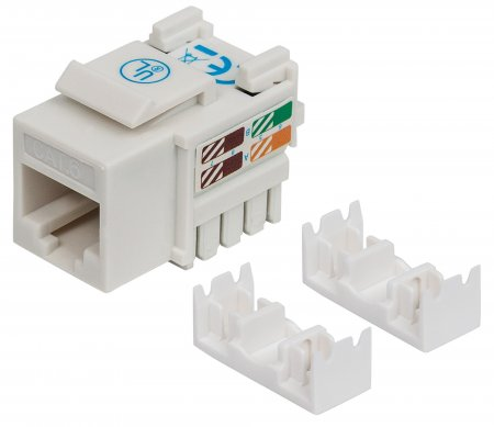 Cat6 Keystone Jack - , UTP, White, Punch-down