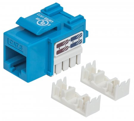 Cat6 Keystone Jack - , UTP, Blue, Punch-down