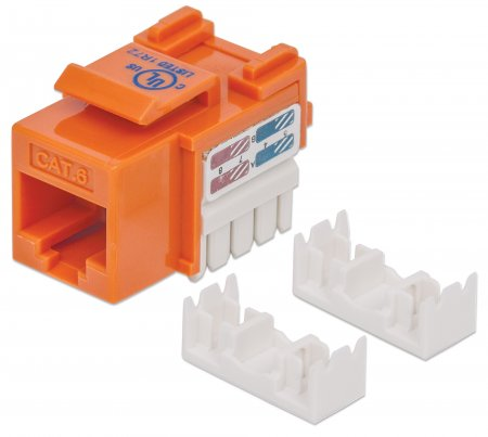 Cat6 Keystone Jack - , UTP, Orange, Punch-down