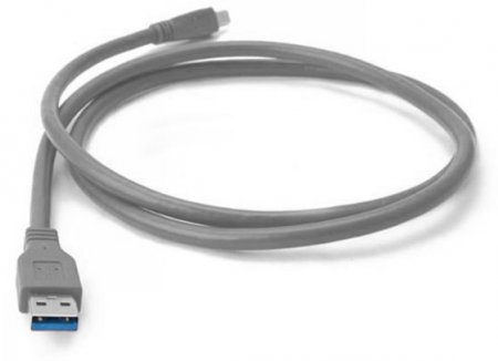 Hi-Speed USB 2.0 Anschlußkabel Typ A Stecker - Typ Mini 5-Pol. Stecker, Grau, 4.5 m MANHATTAN