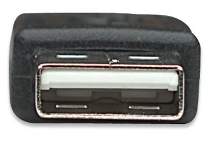 Hi-Speed USB Mini-B Anschlusskabel MANHATTAN USB 2.0, Typ A Stecker - Mini-B Stecker, 480 Mbps, 4,5 m, Schwarz