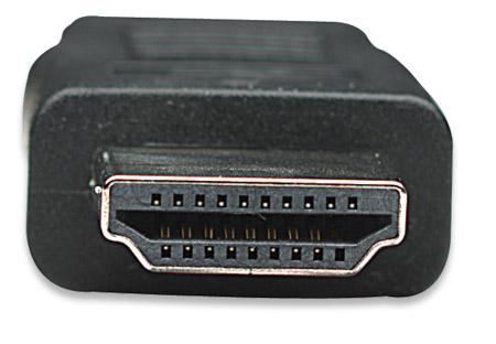 High Speed HDMI-Kabel MANHATTAN 3D, Mini HDMI Stecker auf HDMI Stecker, geschirmt, schwarz, 1,8 m