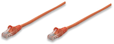 Netzwerkkabel, Cat5e, F/UTP INTELLINET RJ45 Stecker / RJ45 Stecker,  3,0 m, Orange