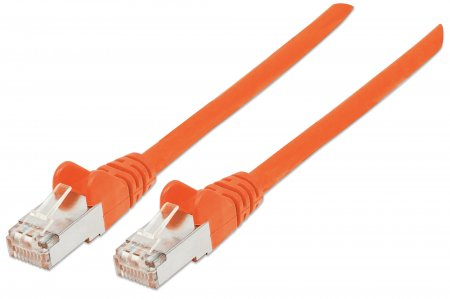 Netzwerkkabel, Cat6A, S/FTP INTELLINET RJ45-Stecker/RJ45-Stecker, 0,5 m, orange